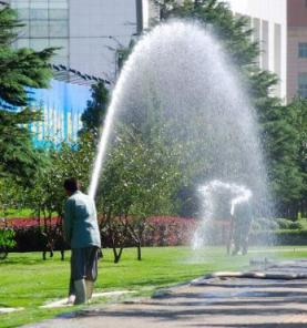 Roseville sprinkler repairservice at office complex