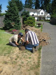 Granite bay sprinkler repair technicians install a system